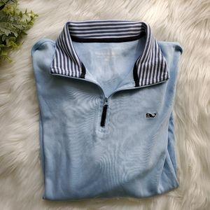 Vineyard Vines blue zip pullover